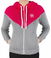 ADIDAS ORIGINALS TREFOIL WOMEN'S FULL ZIP HOODY SWEATER HOODIE JUMPER UK 8 E34