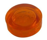 Lego 10 Stück transparent orange runde Fliesen 1x1 Fliese 98138 Fliese Neu