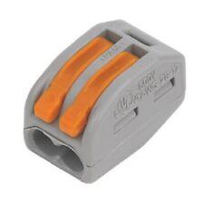 WAGO 32A Cable Conector 2-3-5 vías de empuje Fit reutilizable Cable Cable Abrazadera de empalme