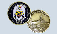 USS Missouri BB-63 Battleship Challenge Coin The Mighty Mo