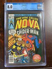 Nova #12 (1977) CGC 8.0 - Spider Man & Photon App - 35 Cent Price News Stand Var