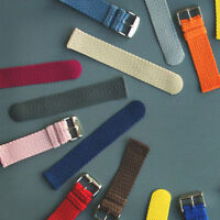 2 Piece Perlon Braided Nylon SS Watch Bands