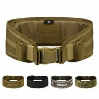 Tactical Military Hunting Airsoft Molle Combat Waist Padded Belt Web Belts US