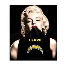 MARILYN MONROE SAN DIEGO CHARGERS REFRIGERATOR MAGNET CHRISTMAS MAN CAVE GIFT