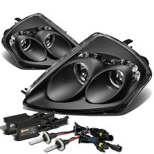 12000K SLIM HID+BLACK HALO PROJECTOR+AMBER SIDE HEADLIGHT FOR 00-05 MIT ECLIPSE