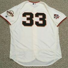 POWELL size 52 #33 2018 SAN FRANCISCO GIANTS game used jersey HOME CREAM MLB HOL