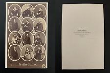 Disderi, Paris, Acteurs Théâtre Italien, Ristori, Alboni et altri Vintage cdv al
