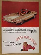 1966 Dodge Dart GT Convertible beige car photo vintage print Ad