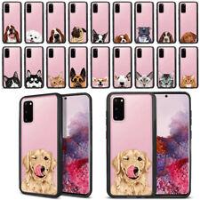 "For Samsung Galaxy S20 6.2"" 2020 Dog Cat Hybrid Hard Clear Case TPU Bumper Cover"