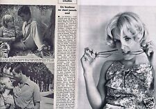 Coupure de presse Clipping 1965 Marie-France Boyer & Jean-Claude Drouot  2 pages