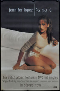 JENNIFER LOPEZ ON THE 6 1999 ORIGINAL 30X46 SUBWAY POSTER RECORD PROMOTION
