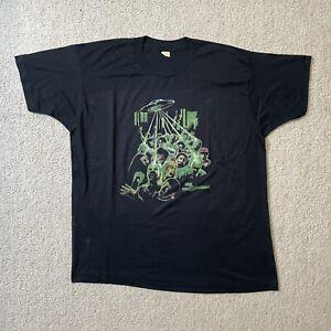 Vintage 90s The UneXplained sci fi movie promo t-shirt rare screen stars XXL