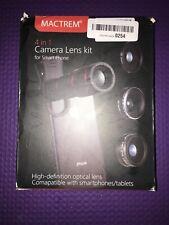 Mactrem 4 in 1 Camera Lens Kit for Smart Phone Tablet Optical Lens