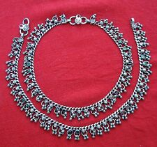 ETHNIC TRIBAL OLD SILVER ANKLET ANKLE CHAIN RAJASTHAN