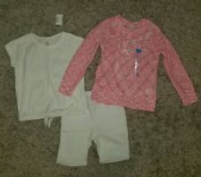 The Childrens Place Girls Bermuda Shorts, Tee & Sweater Lot Of 3 Sz 5/6 NEW