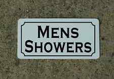 Mens Showers Metal Sign 4 Hotel Bar Gas Station Club Camp Ground Park Store Gym