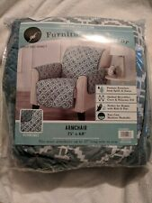 """Great Bay Home Olive Green Armchair Reversible Furniture Protector 75""""x 68"""""""