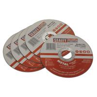 PTC/115CET5 Sealey Cutting Disc Ø115 x 1mm 22mm Bore - Pack of 5