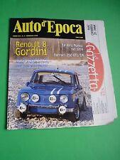 Auto d'Epoca Febbraio 1999 Ferrari 250 GTL/LM GIRO DI SICILIA coppa Pedavena '98