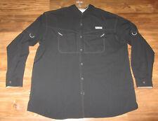Columbia Pfg Mens Short-Sleeve Button-Front Shirt, Black, Size 2Xl, Euc