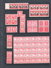 1926-1930 US 2 Cent Red Lot of MNH, Blocks, Pairs, Strips, Singles #3