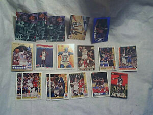 18 1990-98 PATRICK EWING BASKETBALL CARD LOT,Upper Deck,NBA Hoops,new york knick