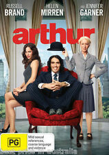 Arthur (2011) DVD BRAND NEW SEALED Russell Brand Helen Mirren Jennifer Garner R4
