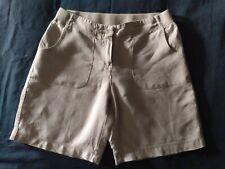 J Jill 100% Linen Grey Shorts 4 Elastic Waist Beach Breezy Cool Love Summer EUC