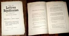 lettre républicaine IV au citoyen Roger de Gervais Martial 1875 Touchatout