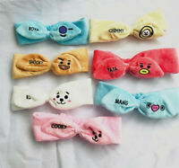 KPOP BT21 hair band headband / plush storage bag cosmetic bag pencil case