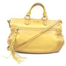Miu Miu Hand Bag  Yellows Leather 631153