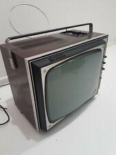 """Televisione In Legno Tv 12"""" Portatile PHONOLA vintage Funzionante"""