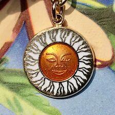 Sun Charm Bracelet, Vintage Signed Emmons Bracelet, Enameled Sun Bracelet,G58