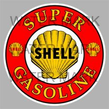 SHELL PETROL GASOLINE OIL BUMPER STICKER FOR HOLDEN TORANA FORD CHEVY MANCAVE