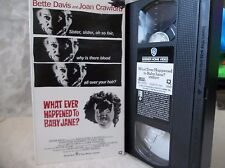 Whatever Happened to Baby Jane? Bette Midler, Joan Crawford  (Vhs)