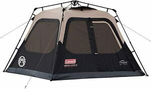Coleman Cabin Tent with Instant Setup | Cabin Tent for Camping Black&Brown