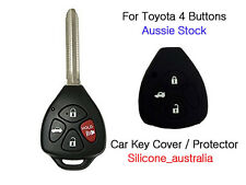 4 Button Silicone Car Key Cover Protector for Toyota Corolla Hilux Yaris Camry