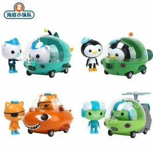 Original Octonauts Barnacles Kwazii Peso Tweak Kids Gup Vehicles Car Toys Gift