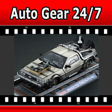 Back To The Future 3 Rail Track Delorean 1:18 Scale Di-cast Model Car