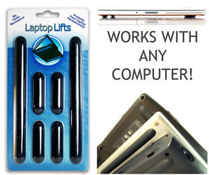 LAPTOP LIFTS - Universal Replacement Rubber Feet Notebook Cooler and Protection!