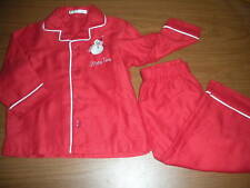 "POTTERY BARN KIDS Red Pajamas w/Snowman Sz 2T ""Braxton"""
