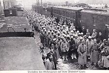 18288 AK programma stazione ferroviaria francese Juantao treni soldati tedeschi del 1915