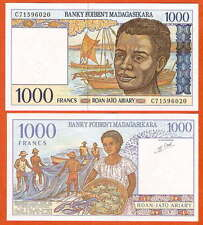 P76b  Madagaskar / Madagascar  1000  Francs  1994  UNC