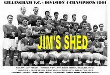 GILLINGHAM F.C.TEAM PRINT 1964 - DIVISION 4 CHAMPIONS