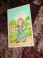 Vintage Antique Easter Greeting Card Postcard PC Used