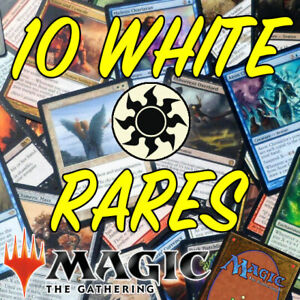 MAGIC THE GATHERING MTG 10 x White Rare Cards from Old to New Sets NO DUPLICATES