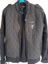 Mens Firetrap Black Woolen & Quilted Jacket Size L