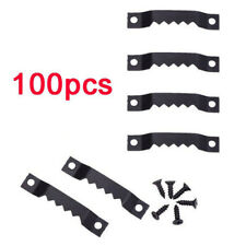 Black 100x Sawtooth 200x Screws Sawtooth Picture Photo Frame Hangers with Screws