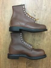 Red Wing Steel Toe Work Boots Model 2233 Mens Size 13 E Brown Leather NWOB