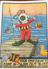 Mary Engelbreit Handmade Greeting Cards-If Your Ship Hasn't Come In